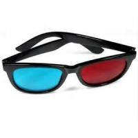 Quality Promotional paper board with 4c printing 0.16 PET Anaglyph 3D Glasses for movie,tv for sale