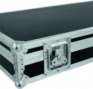 Quality Square Portable Aluminum Tool Cases / Black Handle Equipment Case for sale
