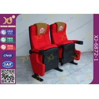 Quality Push Back Function Folding Theater Chairs Removable Legs Movie Seating For Auditorium for sale