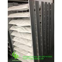 Quality powder coating Architectural aluminum louver with elliptical shape for facade window fixed system for sale