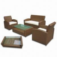 Quality Rattan Furniture Set, Made of Aluminum Frame, Waterproof, Longer Service Life for sale