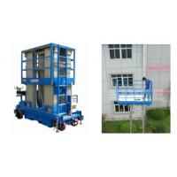 Quality Push Around Man Lift With 12m Working Height , Four Mast Hydraulic Elevating Platform for sale
