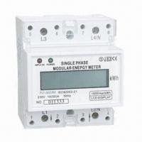 Quality Single-phase Energy Meter with 2-Wire Electronic DIN Rail Active for sale