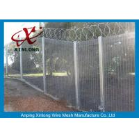 Buy Anti - Destroy Security Perimeter Fencing , Security Mesh Fence For Military Base at wholesale prices