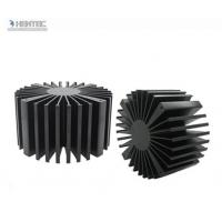 Quality T4 T5 T6 Temper Heat Sink Aluminium Extrusion Profiles with Black Anodized for sale