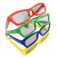 Quality Durable Plastic Red & blue 3D Lens color Kid's Square polarized 3d tv glasses  for sale