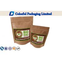 China Kraft Paper Foil Lined Stand Up Zipper Laminated Pouch For Coffee Powder Packing on sale