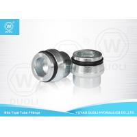 Quality Bite Type Tube Fitting Cap With O RING And Tube Nut , High Pressure Hydraulic Fittings for sale
