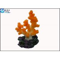 Quality Colorful Coral Aquarium Tank Decorations / Resin Cleaning Fish Tank Ornaments Products for sale