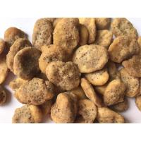 Quality Fried Corn Flour Coated Dried Split Broad Beans Customized Flavor Crispy Taste for sale