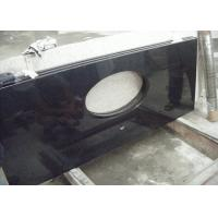 Quality Black Dupont Granite Bathroom Vanity Tops , Granite Overlay Countertops With 1 Faucet  Hole for sale