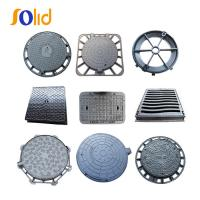 China Supply High Quality Square and Round Ductile Cast Iron Manhole Cover and Drain Grating on sale