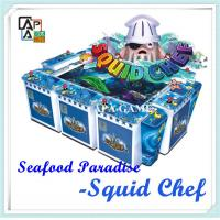 Quality 8P squid chef suchi fisihng catching arcade amusement game machine for sale