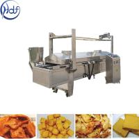 Quality Automatic Puffed Snacks Continuous Fryer Machine , Potato Chips Frying Machine for sale