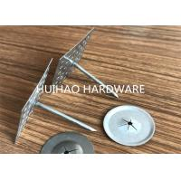 Quality Perforated Type Insulation Anchor Pins with Aluminum Nails 3mmx110mm for sale