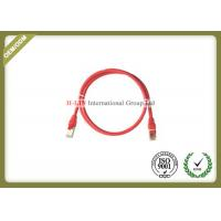 Quality STP 24AWG Network Patch Cord , RJ45 Cat5e Ethernet Patch Cable With Color Boot for sale