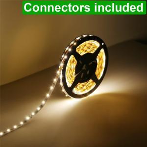 Quality Indoor 3000K Warm White Flexible 12v LED Strip Lights Vibration Resistant for sale