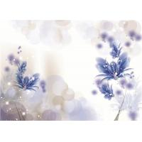 Quality Artistic Flowers Bamboo Fiber Wall Panels Violet Density 1.23 g / m² Water Proof for sale