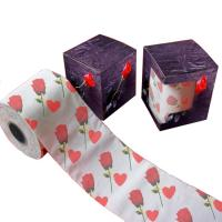 Buy flower toilet tissue  2ply  250 sheets  custom printed toilet paper 100% virgin pulp at wholesale prices