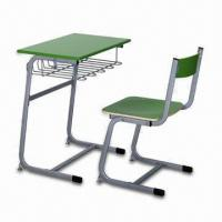 Quality School Desk, Customized Model and Sizes are Accepted, Made of Steel Frame, Easy to Assemble for sale