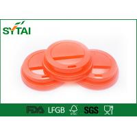 Buy cheap 8 Oz Red Plastic Paper Cup Lids for Coffee or Tea Paper Cups from wholesalers