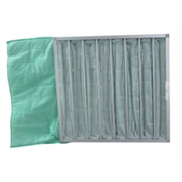 Quality Medium Efficient Washable Synthetic Fiber Industrial Dust Bag Pocket Filter for sale