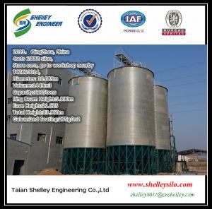 China 1000t galvanized hopper bottom grain storage steel silo for sale on sale