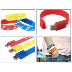Quality USB Silicon Bracelet(USB Wrist Band) for sale