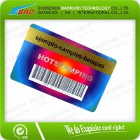 Quality Color Printing Plastic Card Barcode Card for sale