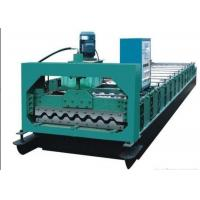 Quality Colored Steel Roof Panel Roll Forming Machine Producing 750mm Width Tiles for sale