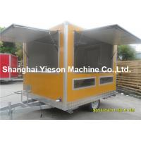 Quality Out - Door Refrigerated Concessions Food Truck Trailers Yellow Kitchen Service Cart for sale
