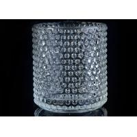 Buy Home Deco Custom Nail Glass Candle Holder / Glass Cylinder Candle Holders at wholesale prices