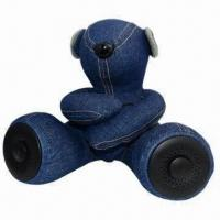 Quality Mobile Phone Mini Speaker, Teddy Bear Design with CE/RoHS Approved for MP3/MP4/Mobile Phones/PCs for sale