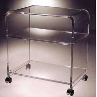 Quality clear acrylic serving cart/perspex hotel service trolley/acrylic dining serving cart with wheels for sale
