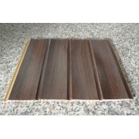 Quality Wood Grain Strip Laminated PVC Wall Panel 3D Effect Self - Fire Extinguishing for sale