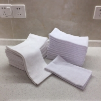 Quality 100% Cotton 44g/Pc White Face Towels for sale