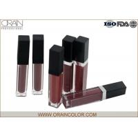 Quality Matte Lip Plumping Lip Gloss , Flavored Lip Gloss Makeup Base Function for sale