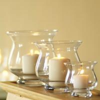 China steel-grind glass cylinder candle stand on sale