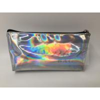 Quality Laser PU Hologram Travel Cosmetic Bags With Zipper , Makeup Bag , Small Pouch for sale