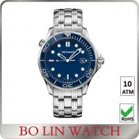 Quality Dual Time Zone Fancy Wrist Watches For Men , Fantasy Watch Sport Blue Dial for sale