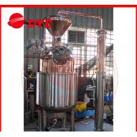 Quality 300L Electricity Moonshine Whisky Pot Still , Small Copper Distiller CE for sale