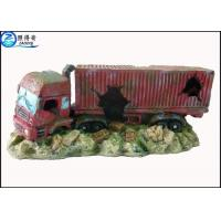 Quality Simulation Big Truck Cool Fish Tank Decorations / Custom Aquarium Ornaments with OEM for sale