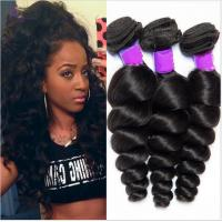 Quality Free Shedding  Human Brazilian Hair Extensions Natural Double / Strong Weft for sale