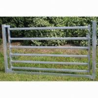 Quality 80 x 40mm Oval Rail Horse Panel Gate for sale