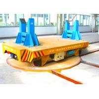 Quality Durable Automated  Rail Electric Trailer mounted on turntable 360 Degree for sale