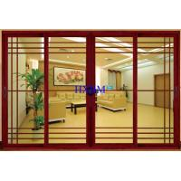 China Wood Grain Color Aluminum Sliding Doors For Luxury Houses on sale