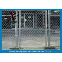 Quality Diamond Hole Chain Link Wire Fence , Galvanized Steel Wire Mesh For Sports Ground Barrier for sale