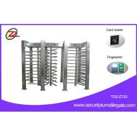 Quality Security Auto Full Height Turnstile Gate Electronic 120 Degree Turning 3 Lane for sale