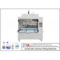 Quality Automatic Gravity Bottle Filling Machine For Toilet Cleaner / Corrosive Liquid 500ml-1L for sale