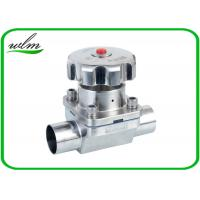 Quality Butt Welded Sanitary Diaphragm Ball Valve PTFE Seal Material , Minimized Dead Leg for sale
